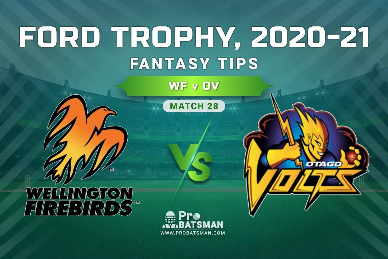 WF vs OV Dream11 Prediction, Fantasy Cricket Tips: Playing XI, Pitch Report and Injury Update, Ford Trophy 2020-21, Match 28