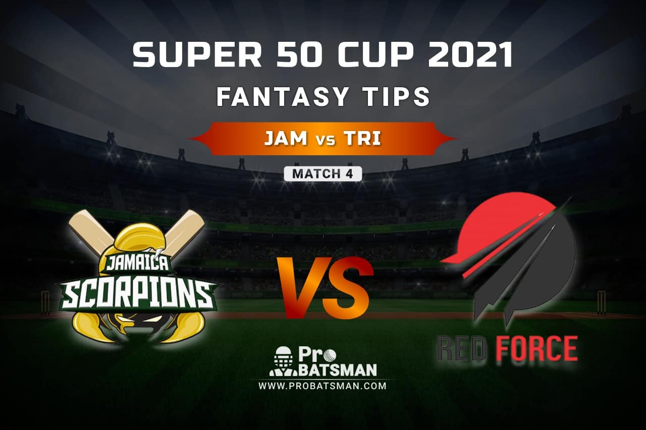 JAM vs TRI Dream11 Prediction, Fantasy Cricket Tips: Playing XI, Weather, Pitch Report, Head-to-Head and Injury Update – Super 50 Cup 2021, Match 4