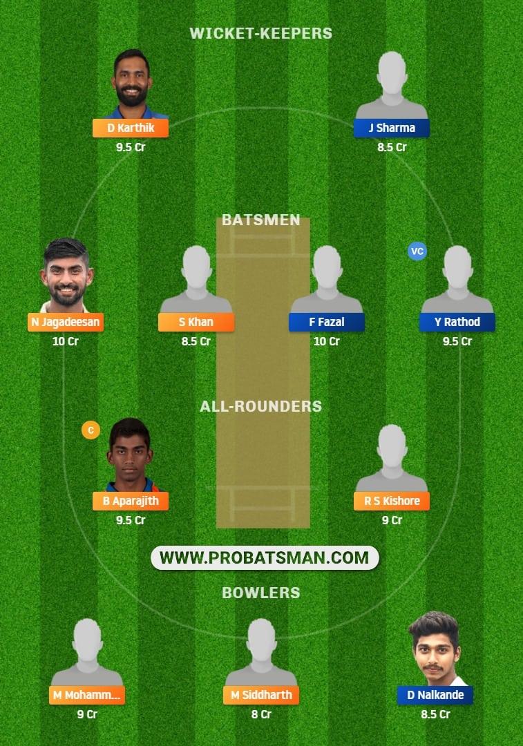 Vijay Hazare Trophy 2021, Group B: TN vs VID Dream11 Prediction, Fantasy Cricket Tips, Playing XI, Stats, Pitch Report & Injury Update - Match 80