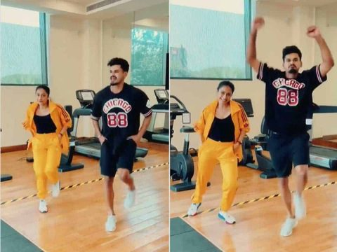 Watch Video: Shreyas Iyer Shakes a Leg With Yuzvendra Chahal's Wife, Dhanashree Verma