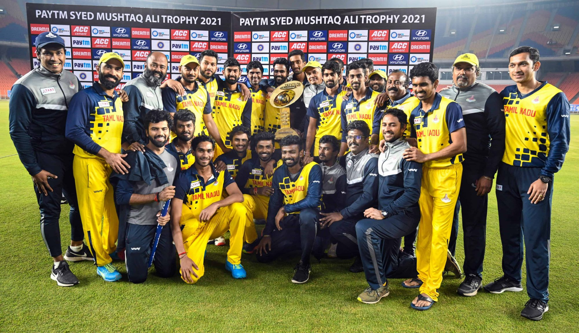 Tamil Nady Lifts Syed Mushtaq Ali Trophy For The Second Time, Defeating Baroda by 7 Wickets