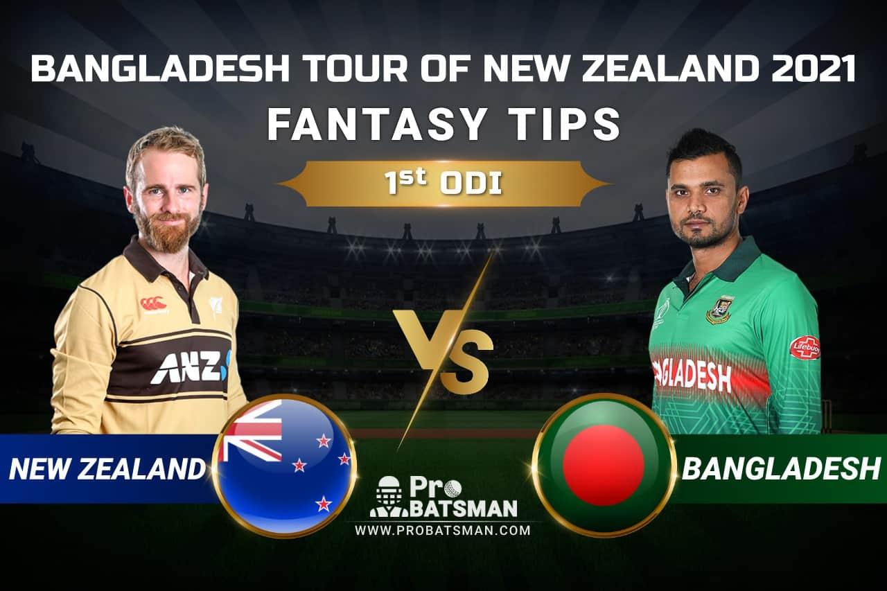 NZ vs BAN Dream11 Prediction: New Zealand vs Bangladesh 1st ODI Playing XI, Pitch Report, Injury & Match Updates – Bangladesh Tour of New Zealand 2021