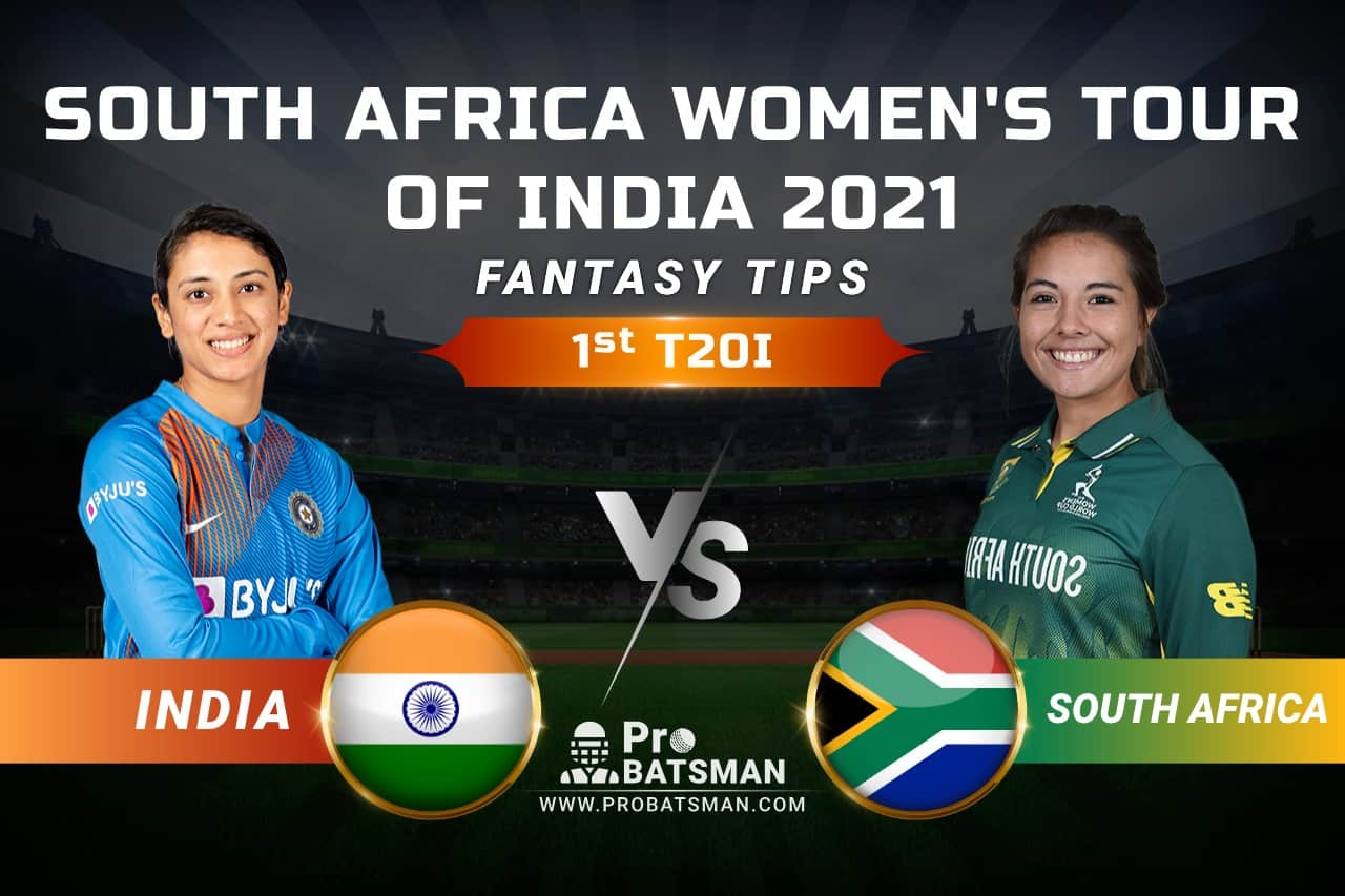 IN-W vs SA-W Dream11 Prediction, Fantasy Cricket Tips: Playing 11, Pitch Report, Squads & Match Updates – South Africa Women Tour of India 2021, 1st T20I