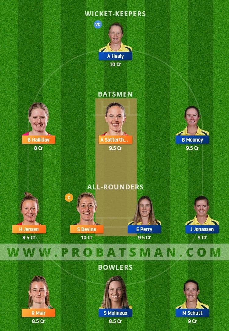NZ-W vs AU-W Dream11 Fantasy Team Prediction