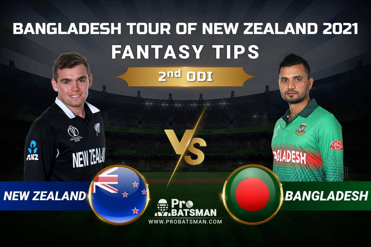 NZ vs BAN Dream11 Prediction: New Zealand vs Bangladesh 2nd ODI Playing XI, Pitch Report, Injury & Match Updates – Bangladesh Tour of New Zealand 2021