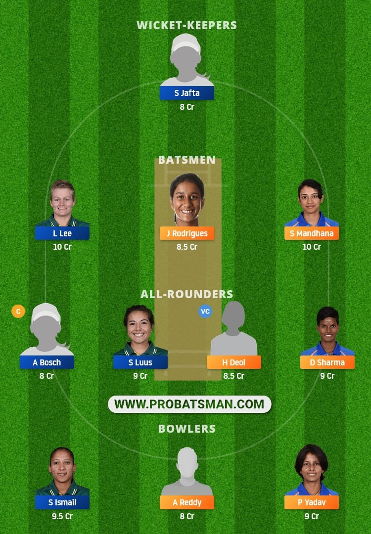 IN-W vs SA-W Dream11 Fantasy Team Prediction