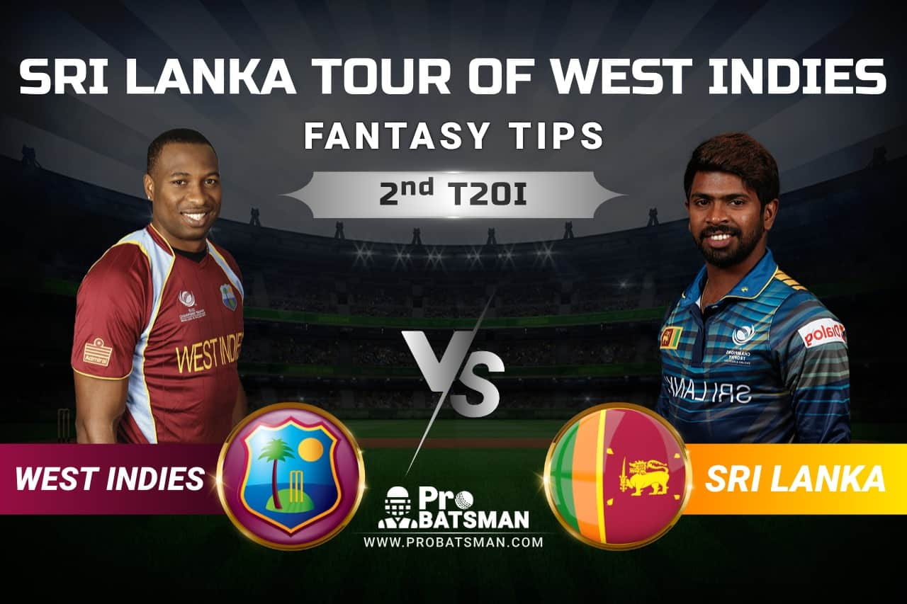 WI vs SL Dream11 Prediction: West Indies vs Sri Lanka 2nd T20I Playing XI, Pitch Report, Squads and Match Updates – Sri Lanka Tour of West Indies 2021