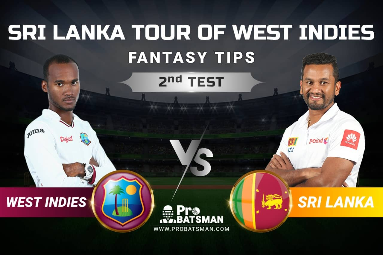 WI vs SL Dream11 Prediction: West Indies vs Sri Lanka 2nd TEST Playing XI, Pitch Report, Squads and Match Updates – Sri Lanka Tour of West Indies 2021