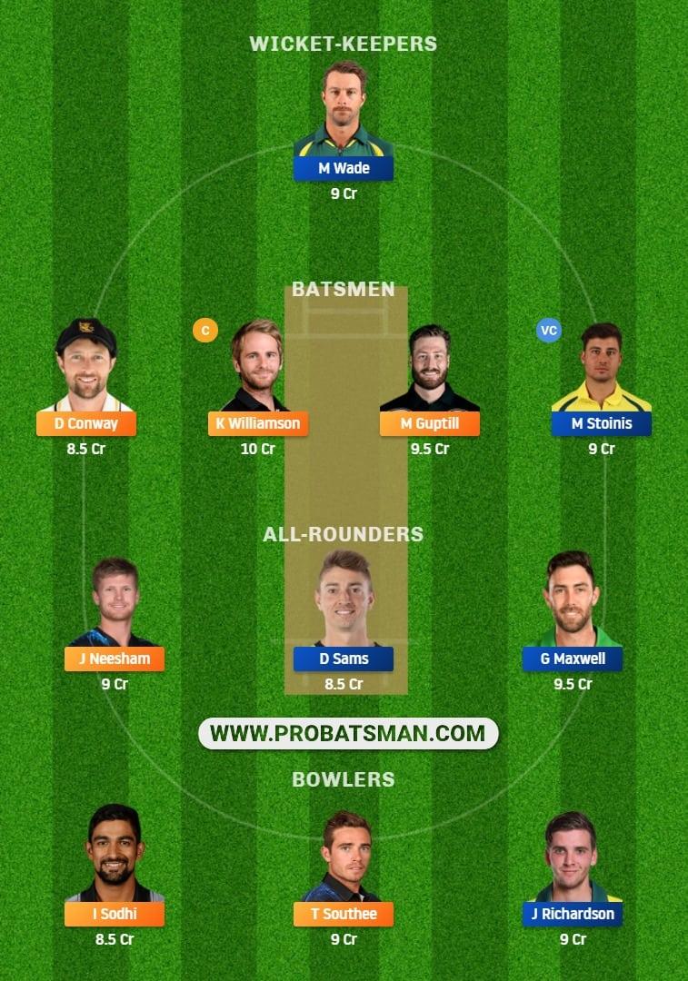 NZ vs AUS Dream11 Fantasy Team Prediction