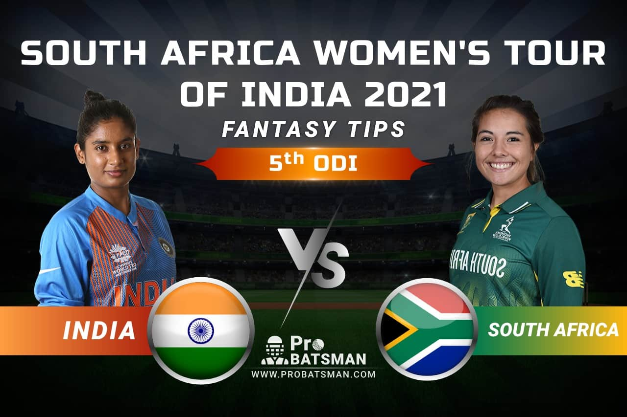 IN-W vs SA-W Dream11 Prediction, Fantasy Cricket Tips: Playing 11, Pitch Report, Squads & Match Updates – South Africa Women Tour of India 2021, 5th ODI