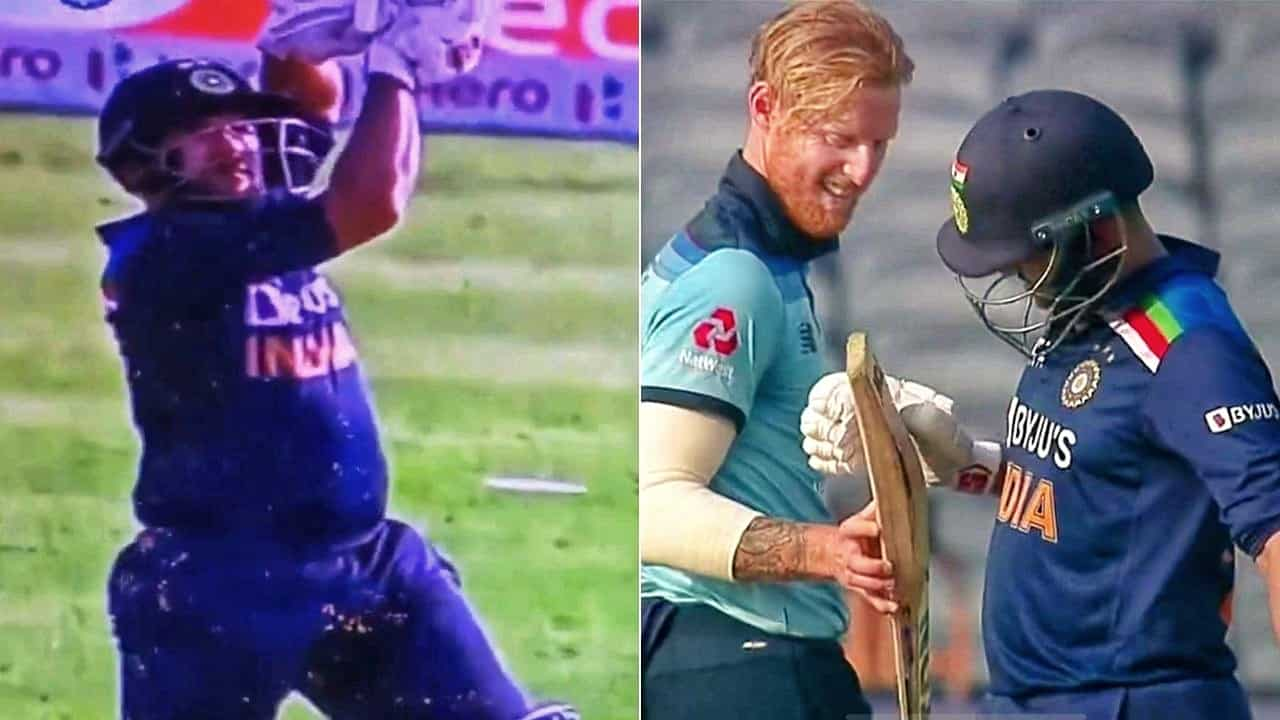 Watch: Ben Stokes Checks Shardul Thakur's Bat After Getting Hit For a Six