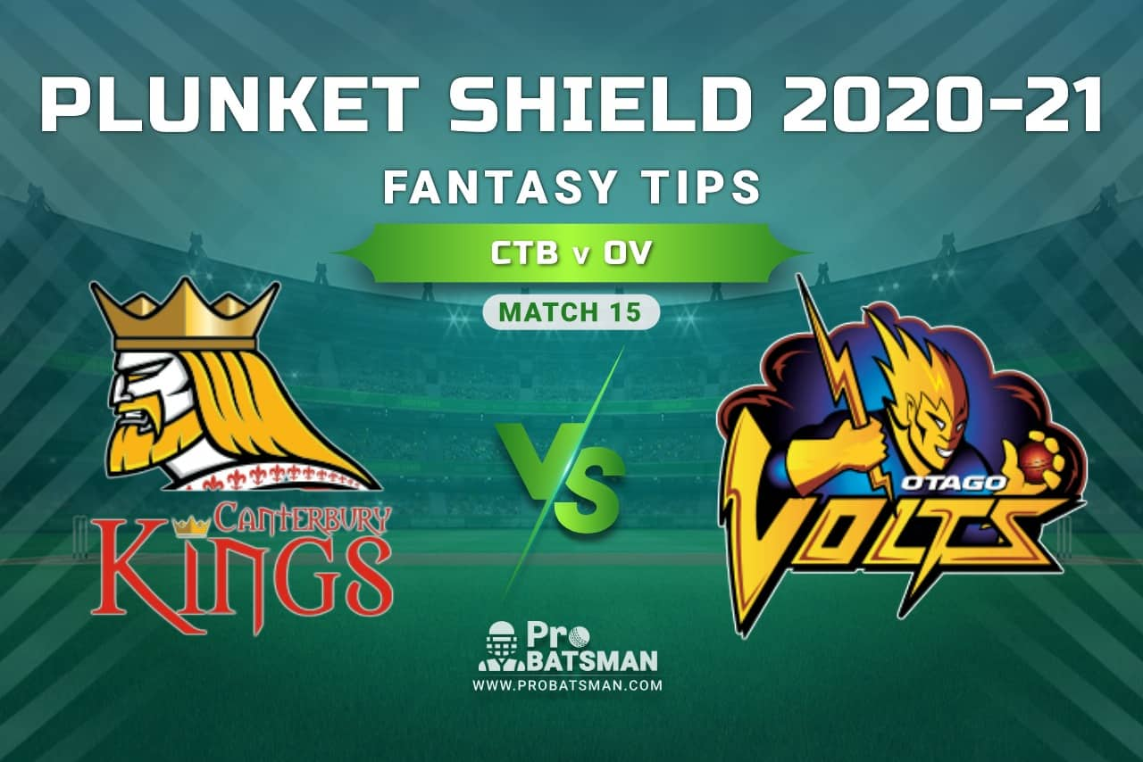 CTB vs OV Dream11 Prediction, Fantasy Cricket Tips: Playing XI, Weather, Pitch Report, Injury Update – Plunket Shield 2020-21, Match 15