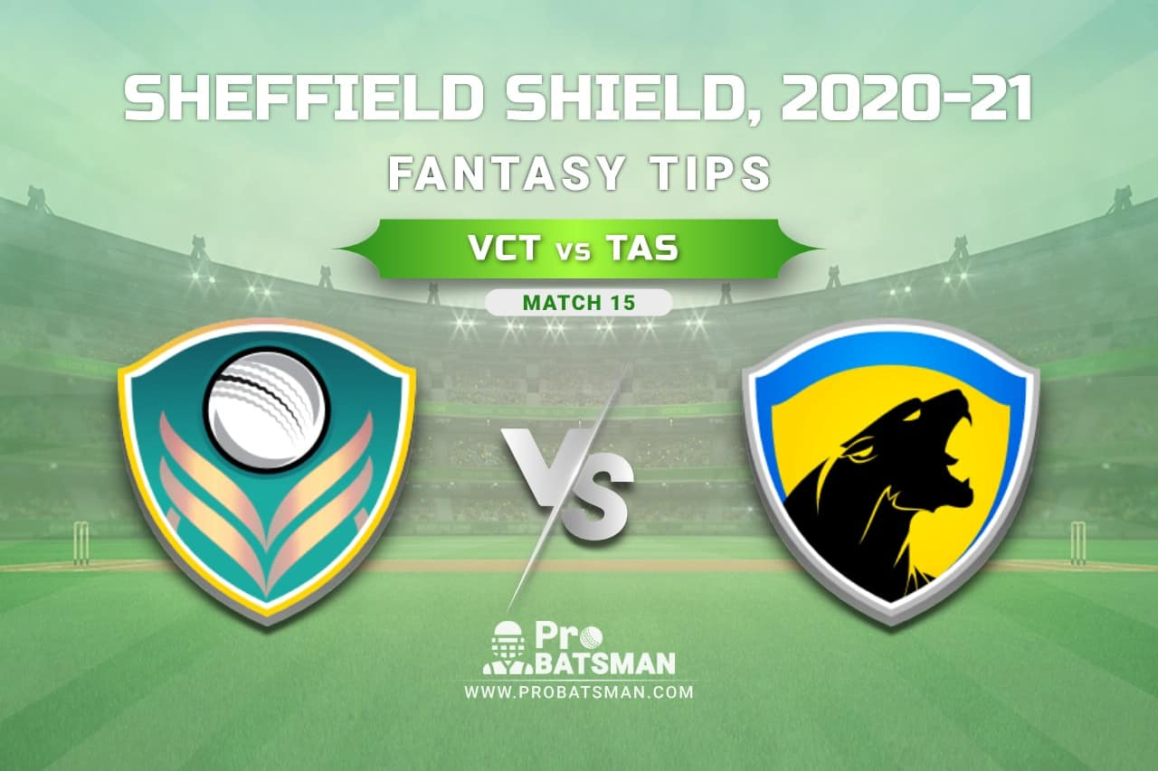 Sheffield Shield 2020-21, Match 15: VCT vs TAS Dream11 Team Prediction - Fantasy Cricket Tips, Pitch Report, Playing 11 & Injury Update