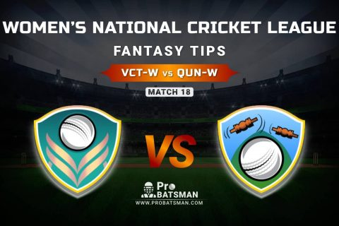 VCT-W vs QUN-W Dream11 Prediction, Fantasy Cricket Tips: Playing XI, Weather, Pitch Report, & Injury Update – Women's National Cricket League 2021, Match 18