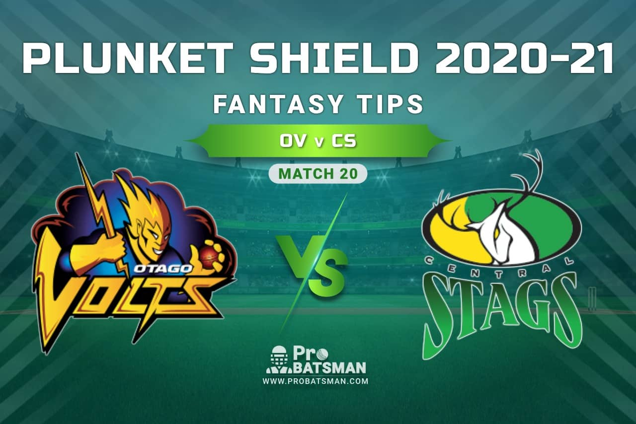 OV vs CS Dream11 Prediction, Fantasy Cricket Tips: Playing XI, Weather, Pitch Report, Injury Update – Plunket Shield 2020-21, Match 20