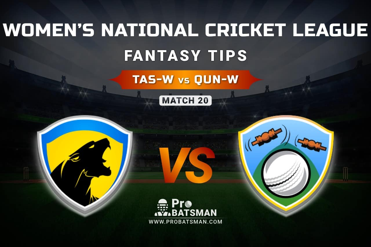 TAS-W vs QUN-W Dream11 Prediction, Fantasy Cricket Tips: Playing XI, Weather, Pitch Report, & Injury Update – Women's National Cricket League 2021, Match 20