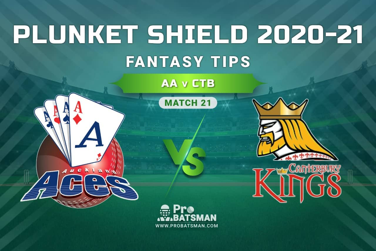 AA vs CTB Dream11 Prediction, Fantasy Cricket Tips: Playing XI, Weather, Pitch Report, Injury Update – Plunket Shield 2020-21, Match 21
