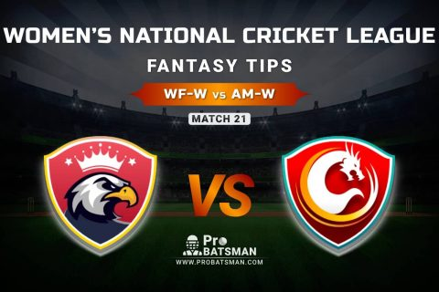 WF-W vs AM-W Dream11 Prediction, Fantasy Cricket Tips: Playing XI, Weather, Pitch Report, & Injury Update – Women's National Cricket League 2021, Match 21