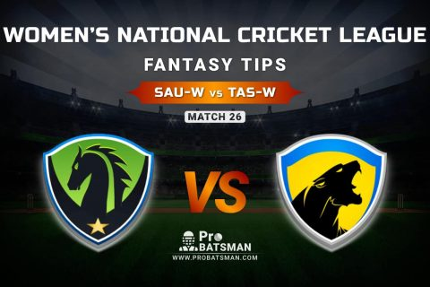 SAU-W vs TAS-W Dream11 Prediction, Fantasy Cricket Tips: Playing XI, Weather, Pitch Report, & Injury Update – Women's National Cricket League 2021, Match 26