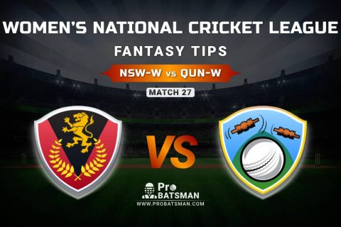 NSW-W vs QUN-W Dream11 Prediction, Fantasy Cricket Tips: Playing XI, Weather, Pitch Report, & Injury Update – Women's National Cricket League 2021, Match 27