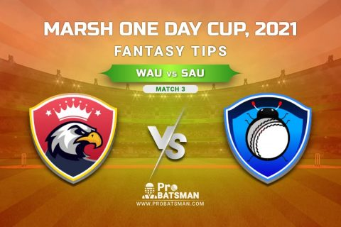WAU vs SAU Dream11 Prediction, Fantasy Cricket Tips: Playing XI, Weather, Pitch Report, Injury Update – Marsh One Day Cup 2021, Match 3
