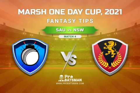 SAU vs NSW Dream11 Prediction, Fantasy Cricket Tips: Playing XI, Weather, Pitch Report, Injury Update – Marsh One Day Cup 2021, Match 4