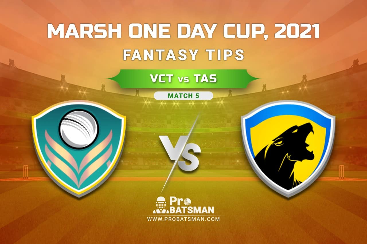 VCT vs TAS Dream11 Prediction, Fantasy Cricket Tips: Playing XI, Weather, Pitch Report, Injury Update – Marsh One Day Cup 2021, Match 5
