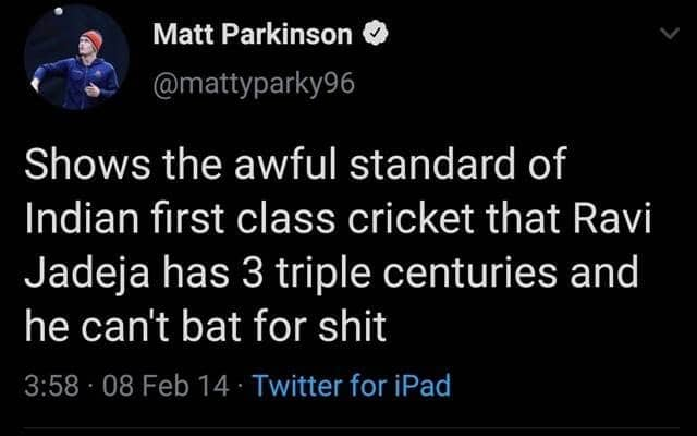 'Kohli and Dhoni are disgraces' – England's Matt Parkinson Gets Brutally Trolled For His Vulgar Tweets