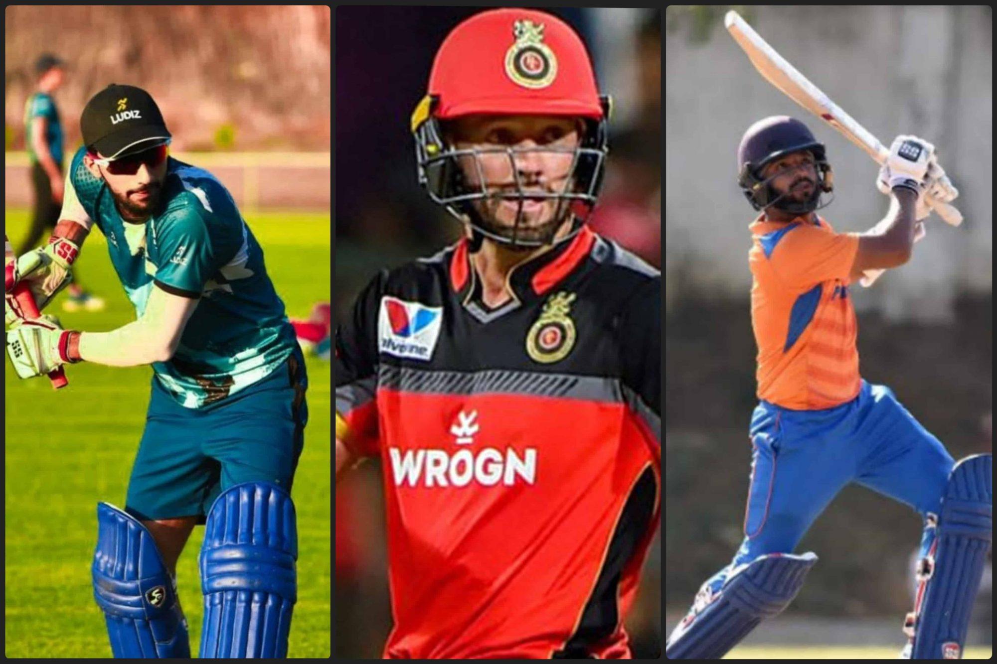 Mohammed Azharuddeen, AB de Villiers and Rajat Patidar