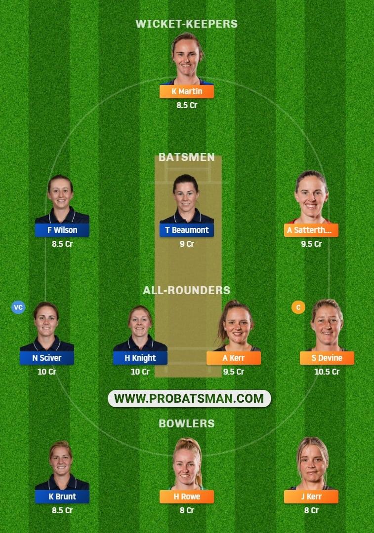 NZ-W vs EN-W 1st T20I Dream11 Prediction