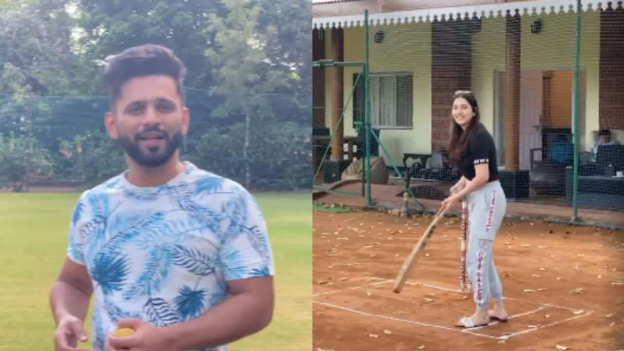 Rahul Vaidya and Disha Parmar Seen Playing Cricket, Rahul Calls Her 'New Virat Kohli (lite) in Making'