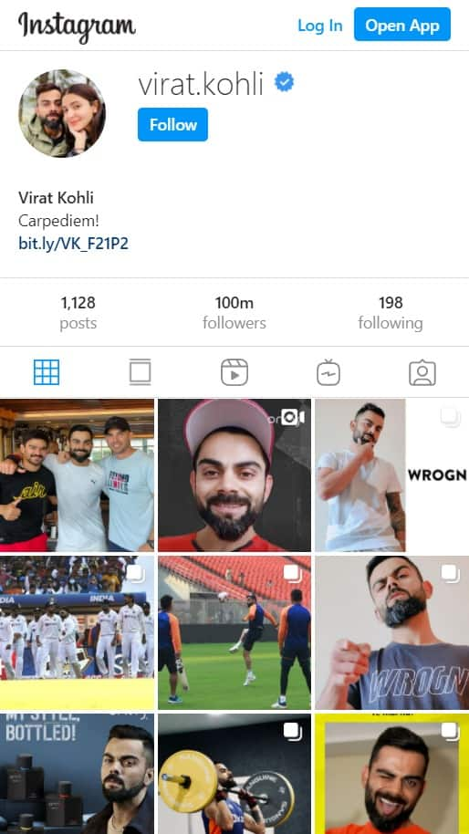 Virat Kohli Becomes First Asian Celebrity To Have 100 Million Followers on Instagram