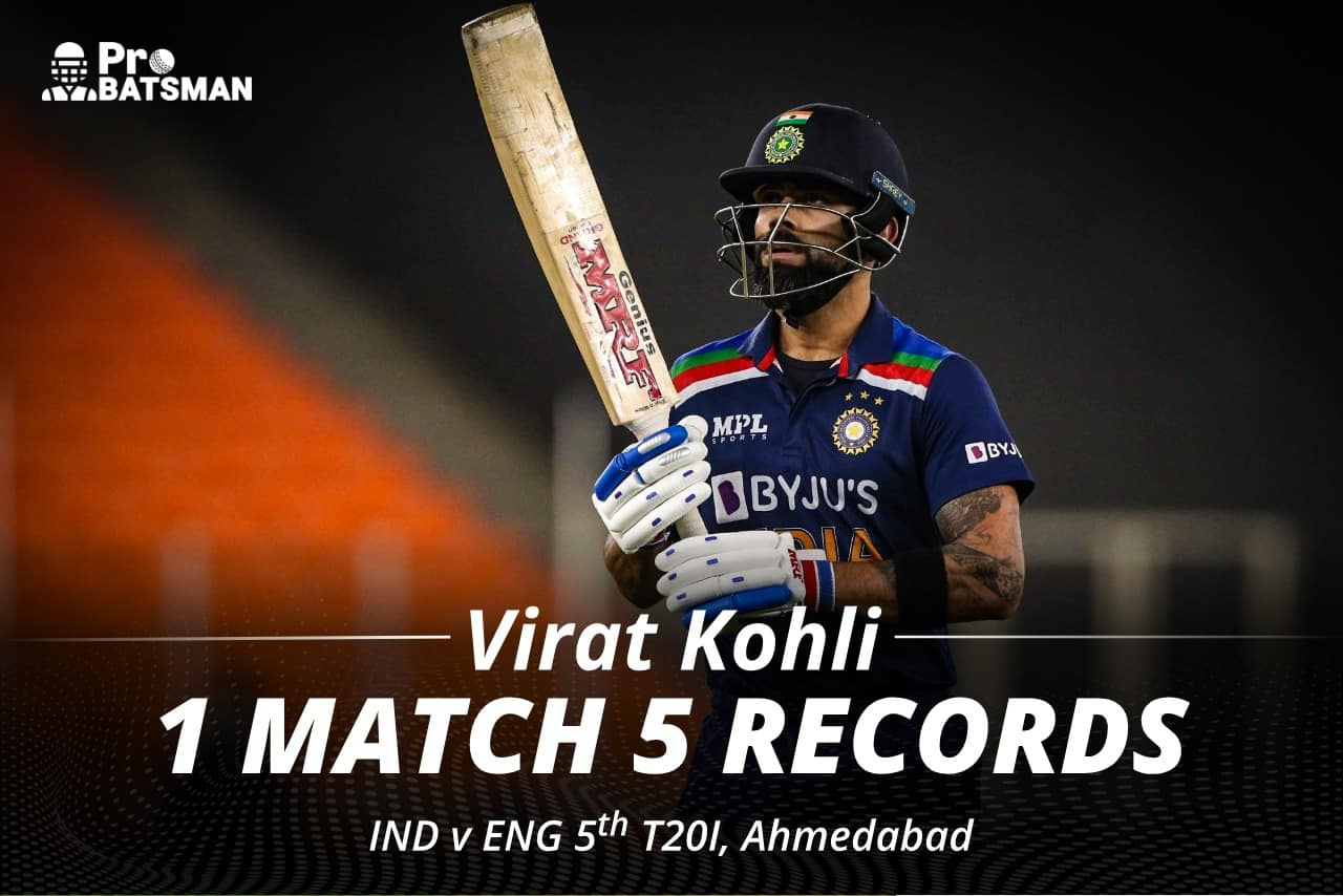 Virat Kohli Scripted 5 Records in The 5th T20I Against England