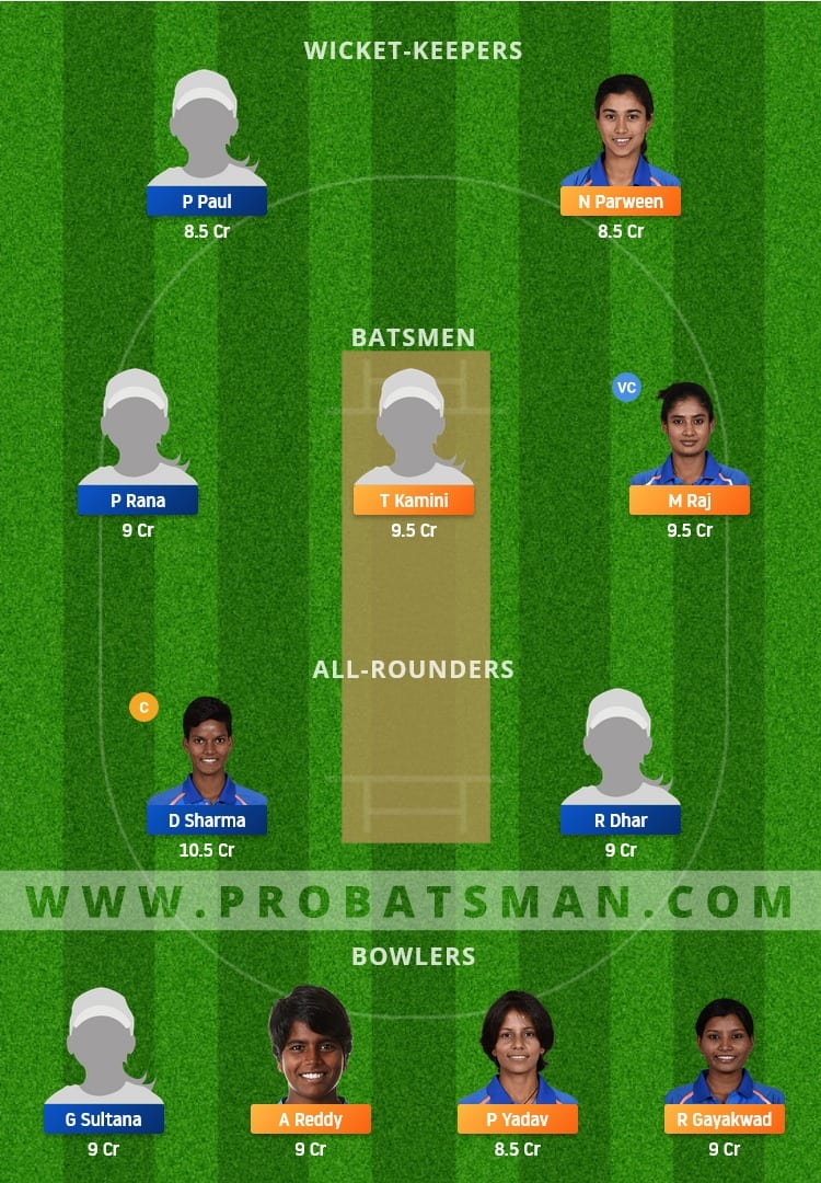 RAI-W vs BEN-W Dream11 Fantasy Team Prediction