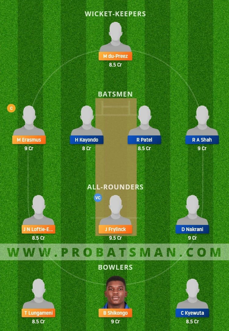 NAM vs UGA Dream11 Fantasy Team Prediction
