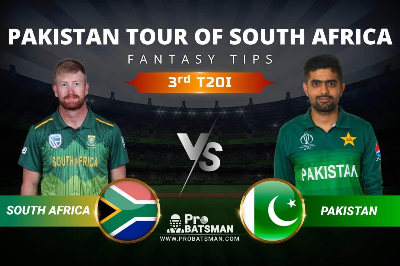 SA vs PAK Dream11 Prediction: South Africa vs Pakistan 3rd T20I Playing XI, Pitch Report, Injury & Match Updates – Pakistan Tour of South Africa 2021