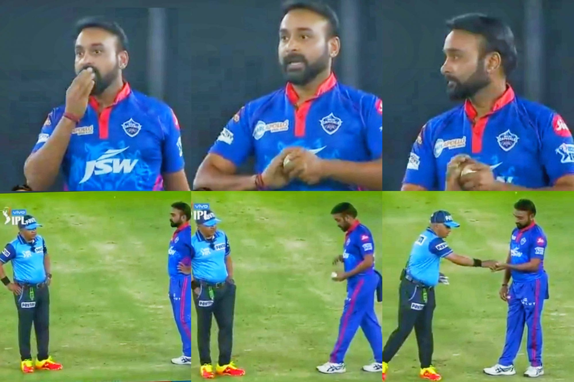 IPL 2021, DC vs RCB: Amit Mishra Receives A Warning From Umpire; Here Is The Reason