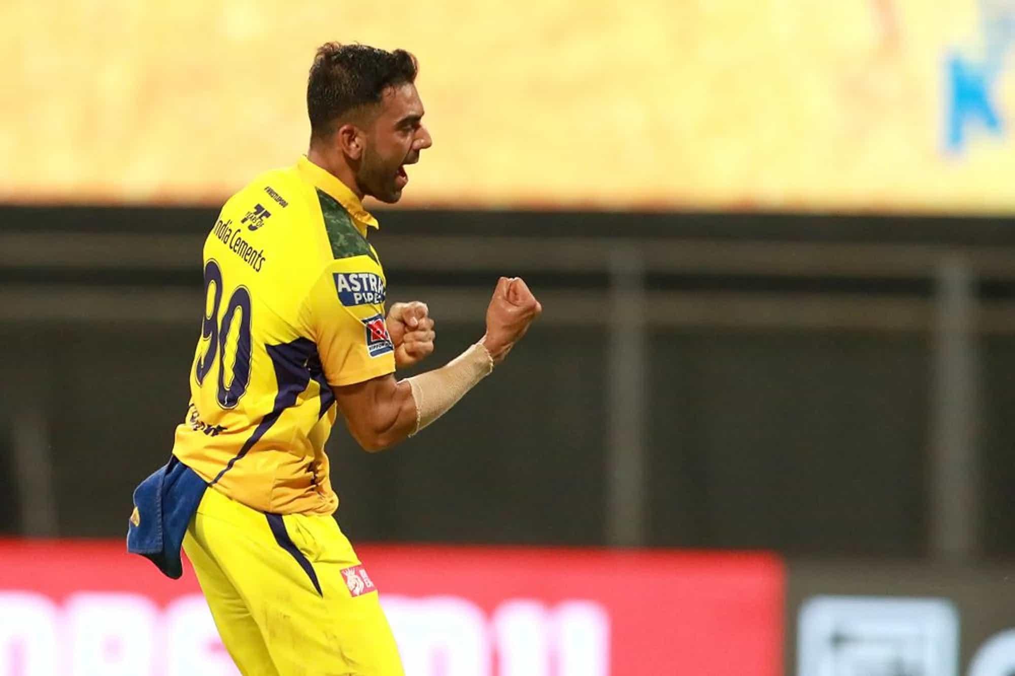 PBKS vs CSK: Deepak Chahar Registers His Best Bowling Figures in The IPL