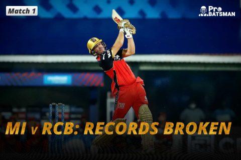 IPL 2021 - MI vs RCB: 4 Records Broken As Royal Challengers Bangalore Beat Mumbai Indians In Last-Ball Thriller
