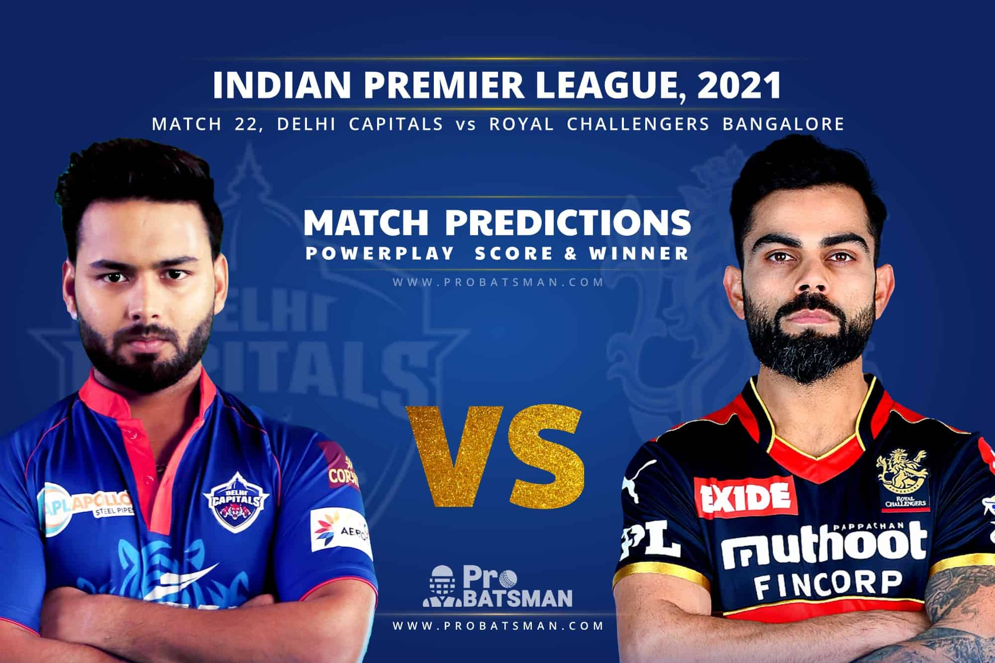 IPL 2021: DC vs RCB – Match 22, Match Prediction – Who Will Win Today's Match?