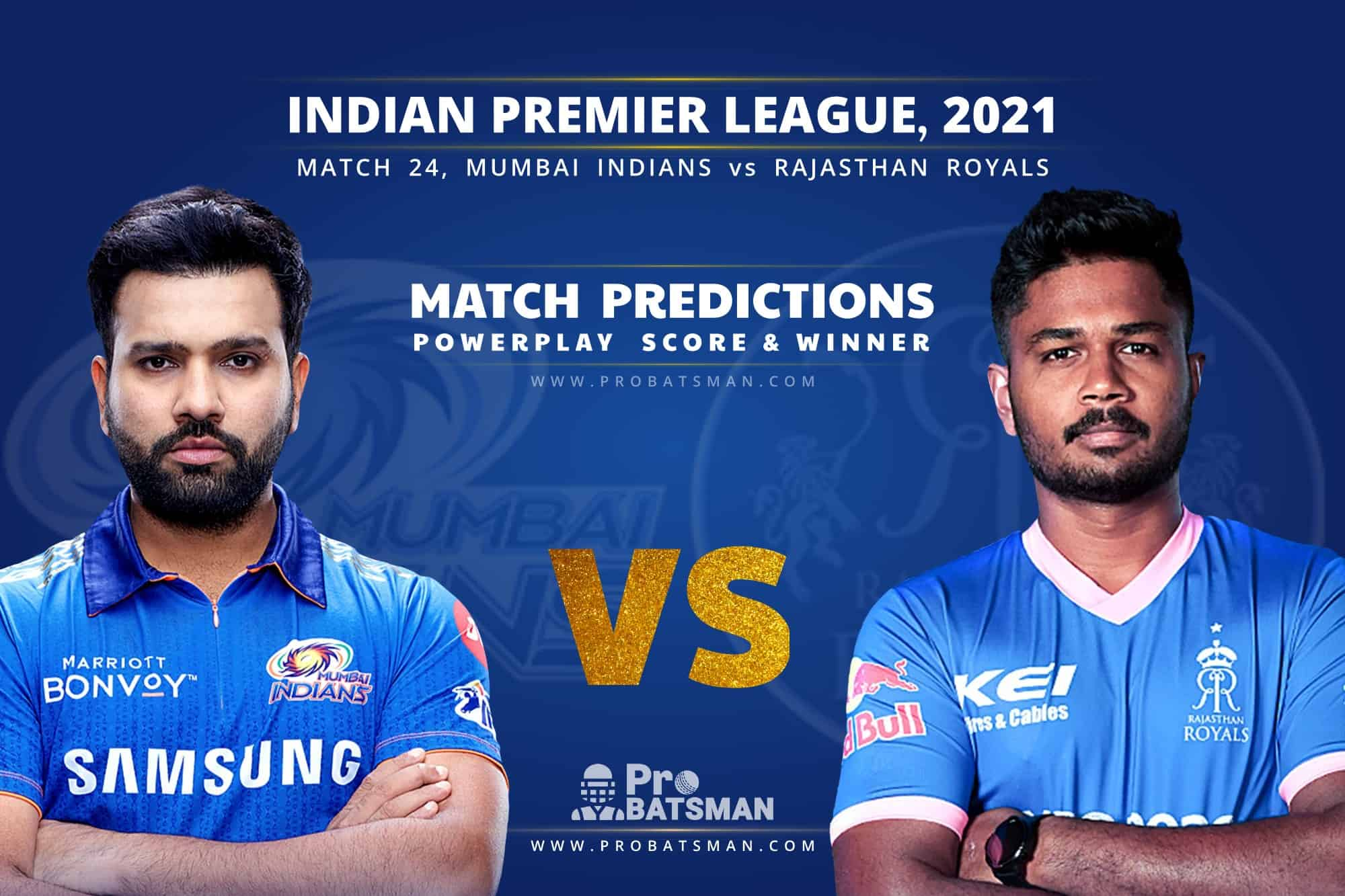 IPL 2021: MI vs RR – Match 24, Match Prediction – Who Will Win Today's Match?