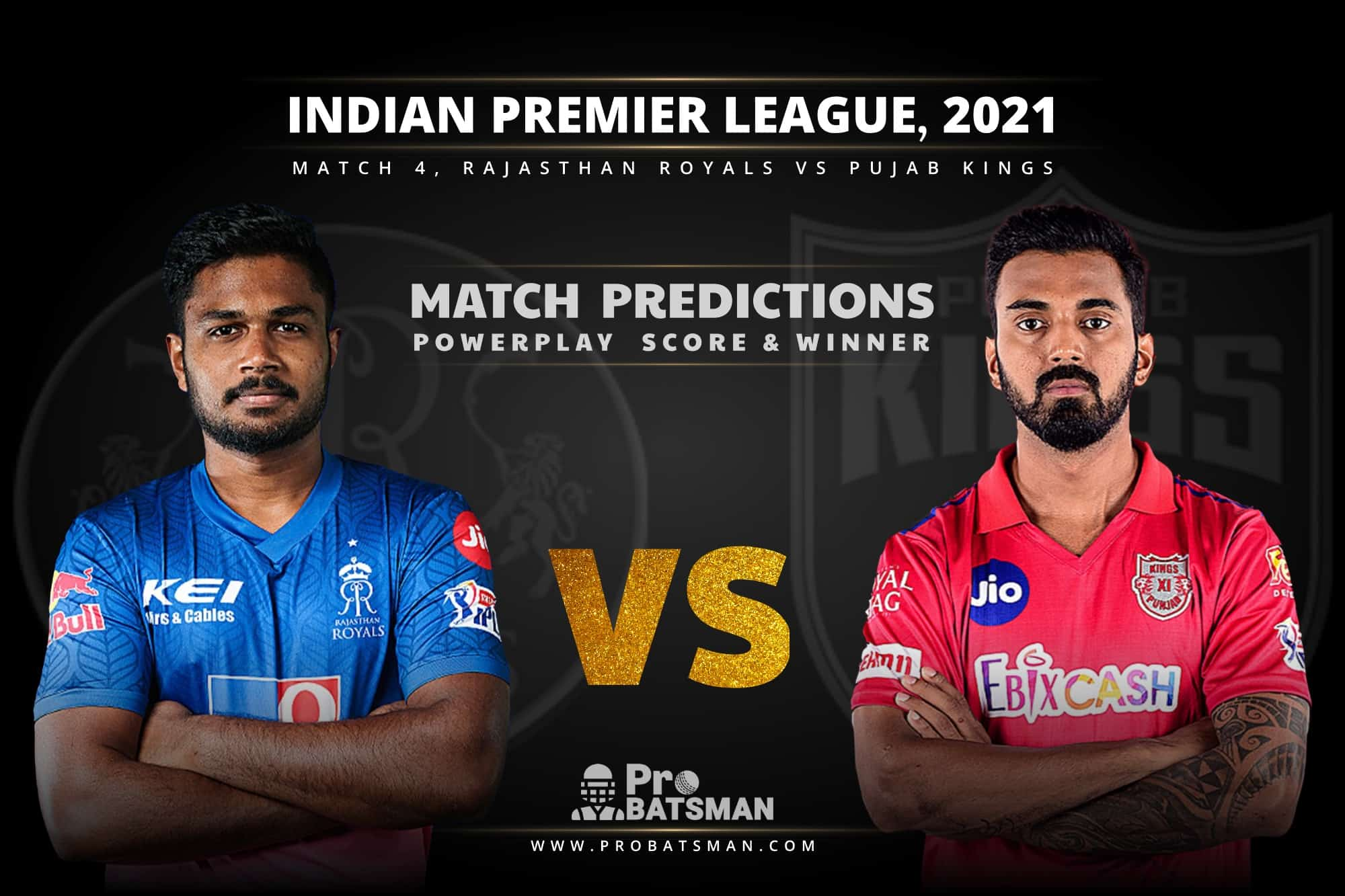 IPL 2021: RR vs PBKS – Match 4, Match Prediction – Who Will Win Today's Match?