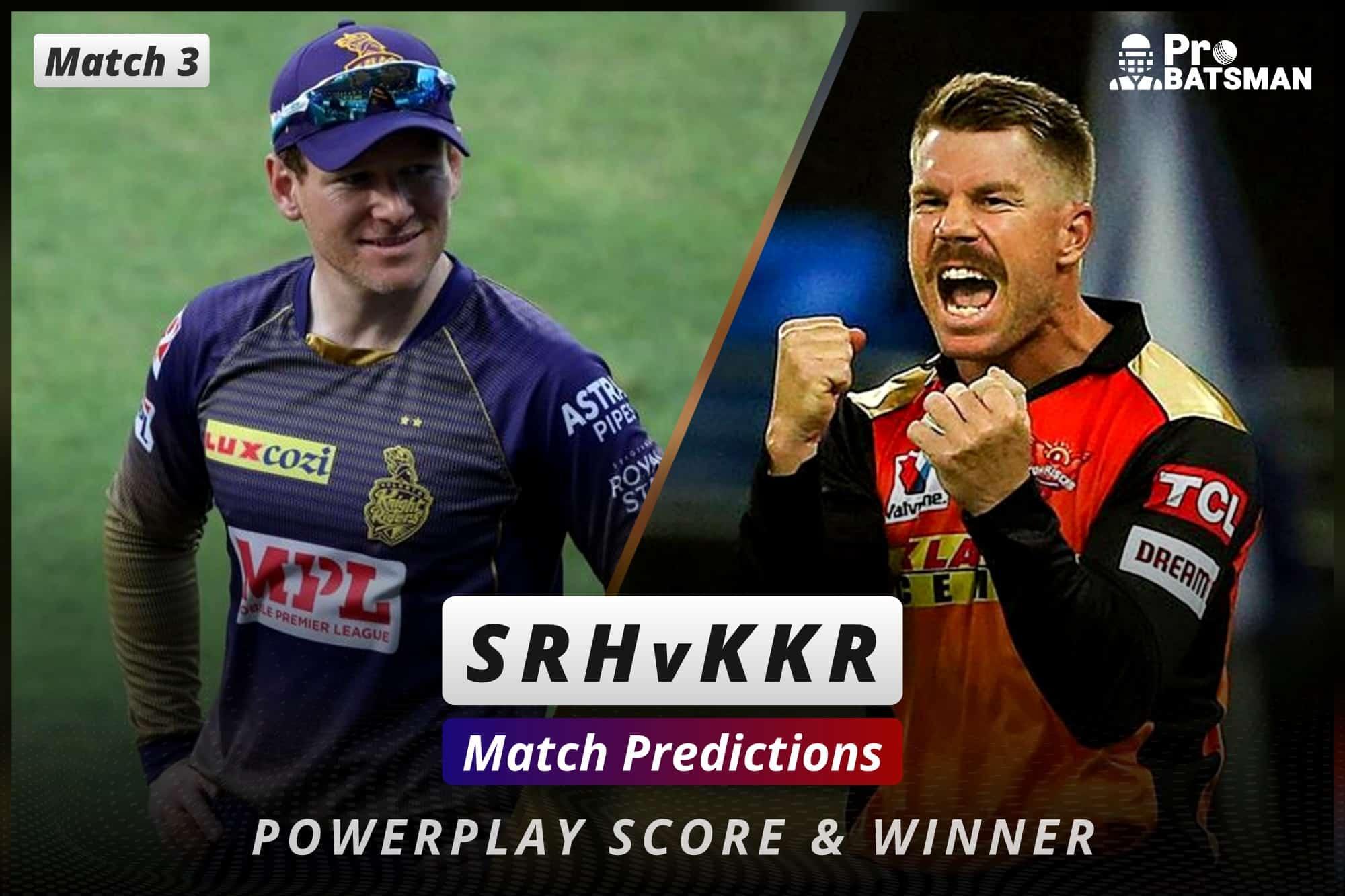 IPL 2021: SRH vs KKR – Match 3, Match Prediction – Who Will Win Today's Match?