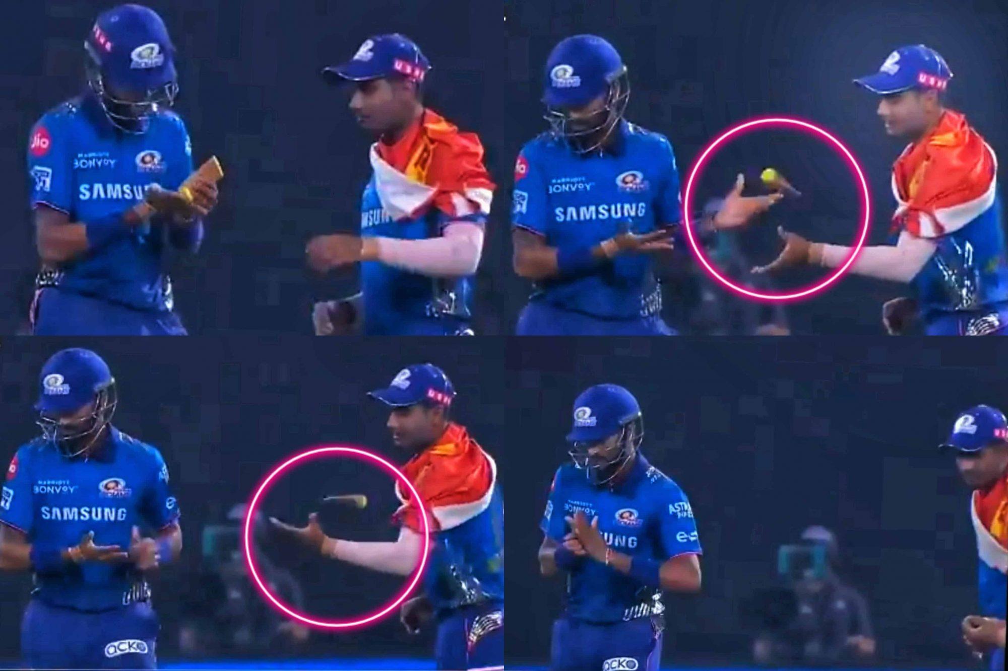 Watch: Krunal Pandya Misbehaved During MI vs RR; Throws Away The Moisturizer Towards Anukul Roy