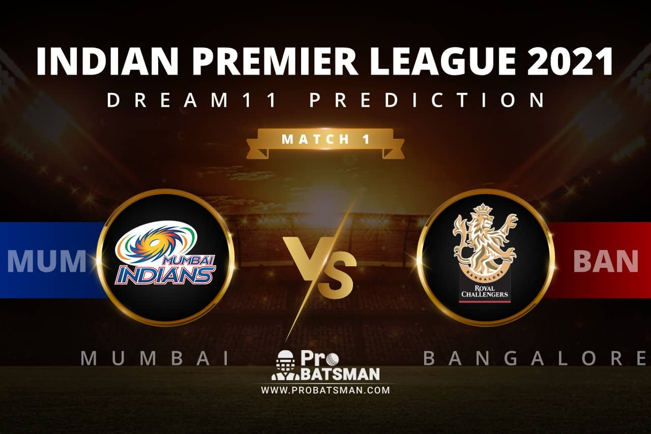 MI vs BLR Dream11 Prediction: Fantasy Cricket Tips, Playing XI, Pitch Report, Stats, Match & Injury Updates, Indian Premier League (IPL) 2021
