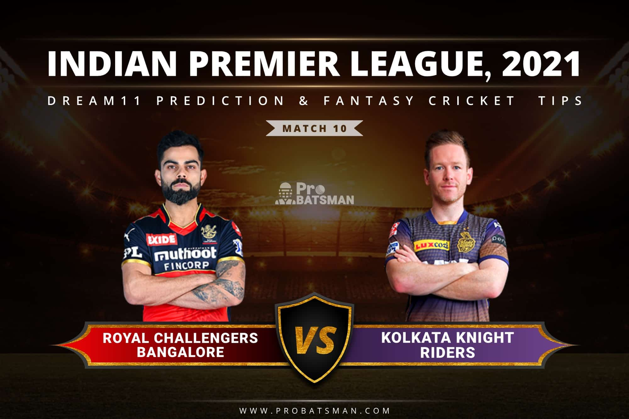 RCB vs KKR Dream11 Prediction: Fantasy Cricket Tips, Playing XI, Pitch Report, Stats & Injury Updates of Match 10, IPL 2021