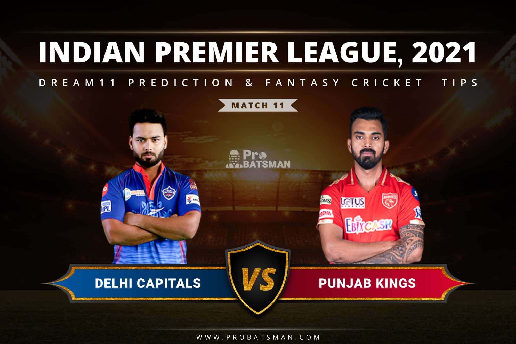 DC vs PBKS Dream11 Prediction: Fantasy Cricket Tips, Playing XI, Pitch Report, Stats & Injury Updates of Match 11, IPL 2021