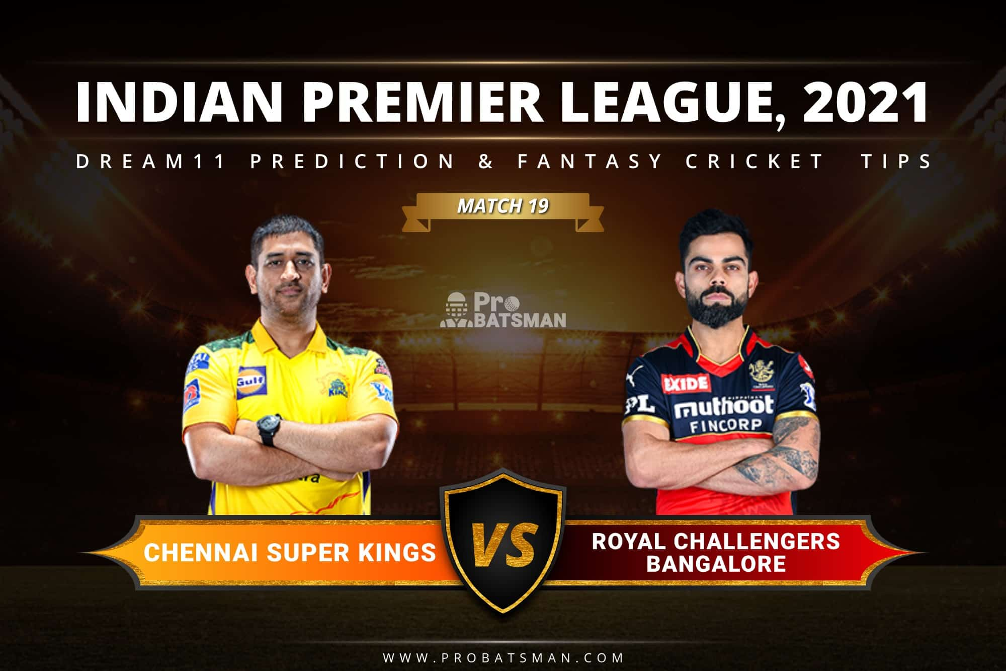 CSK vs RCB Dream11 Prediction: Fantasy Cricket Tips, Playing XI, Pitch Report, Stats & Injury Updates of Match 19, IPL 2021