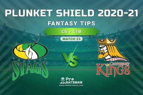 CS vs CTB Dream11 Prediction, Fantasy Cricket Tips: Playing XI, Weather, Pitch Report, Injury Update – Plunket Shield 2020-21, Match 23