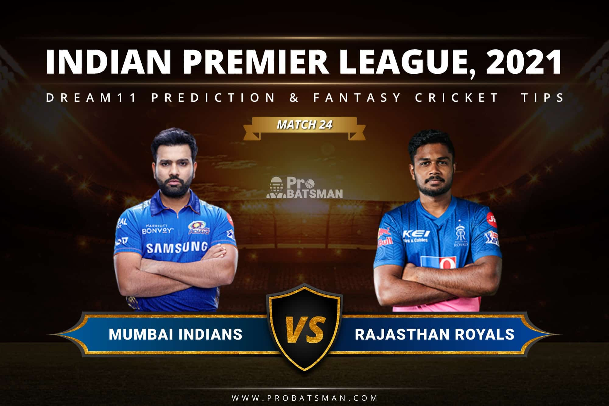 MI vs RR Dream11 Prediction: Fantasy Cricket Tips, Playing XI, Pitch Report, Stats & Injury Updates of Match 24, IPL 2021